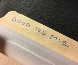"Start Your Own ""Good Job File"""