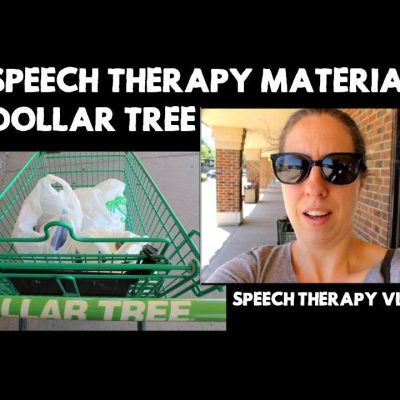 35 Speech Therapy Materials at Dollar Tree