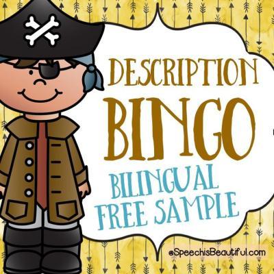 Pirate Description Bingo – Free Bilingual Sample