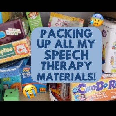 Packing Up All My Speech Materials and Games