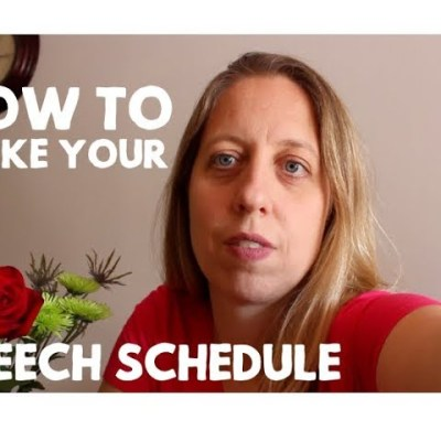 How to Make Your Speech Therapy Schedule in the Schools