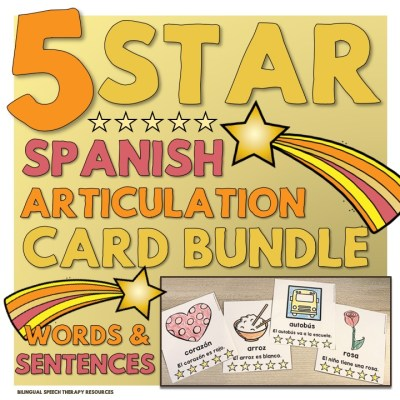 5 Star Spanish Articulation Cards