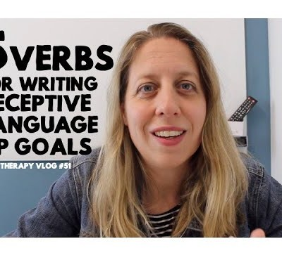 5 Verbs for Writing Receptive Language Goals