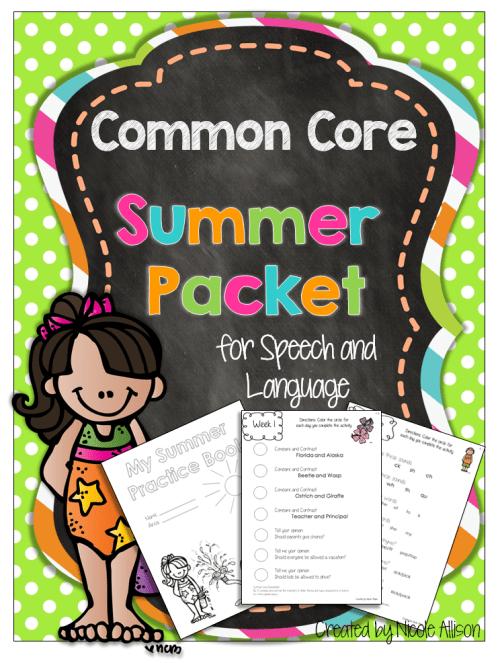 Summer Speech Books