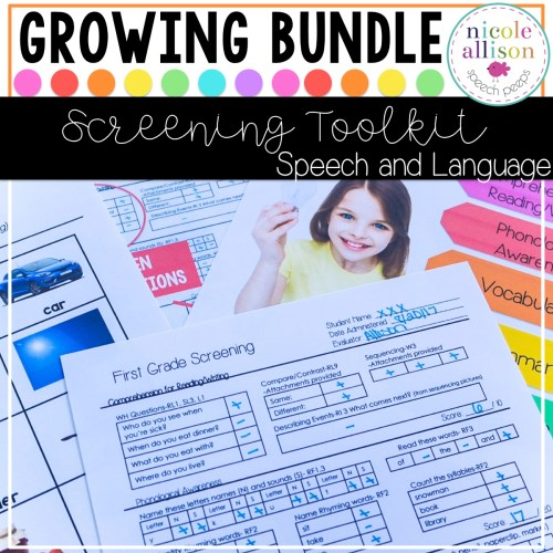 Screening and Assessment Toolkits
