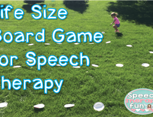Speech Therapy Fun: Life Size Board Game