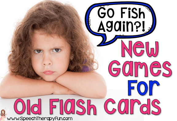 New Speech Therapy Games for Old Flash Cards