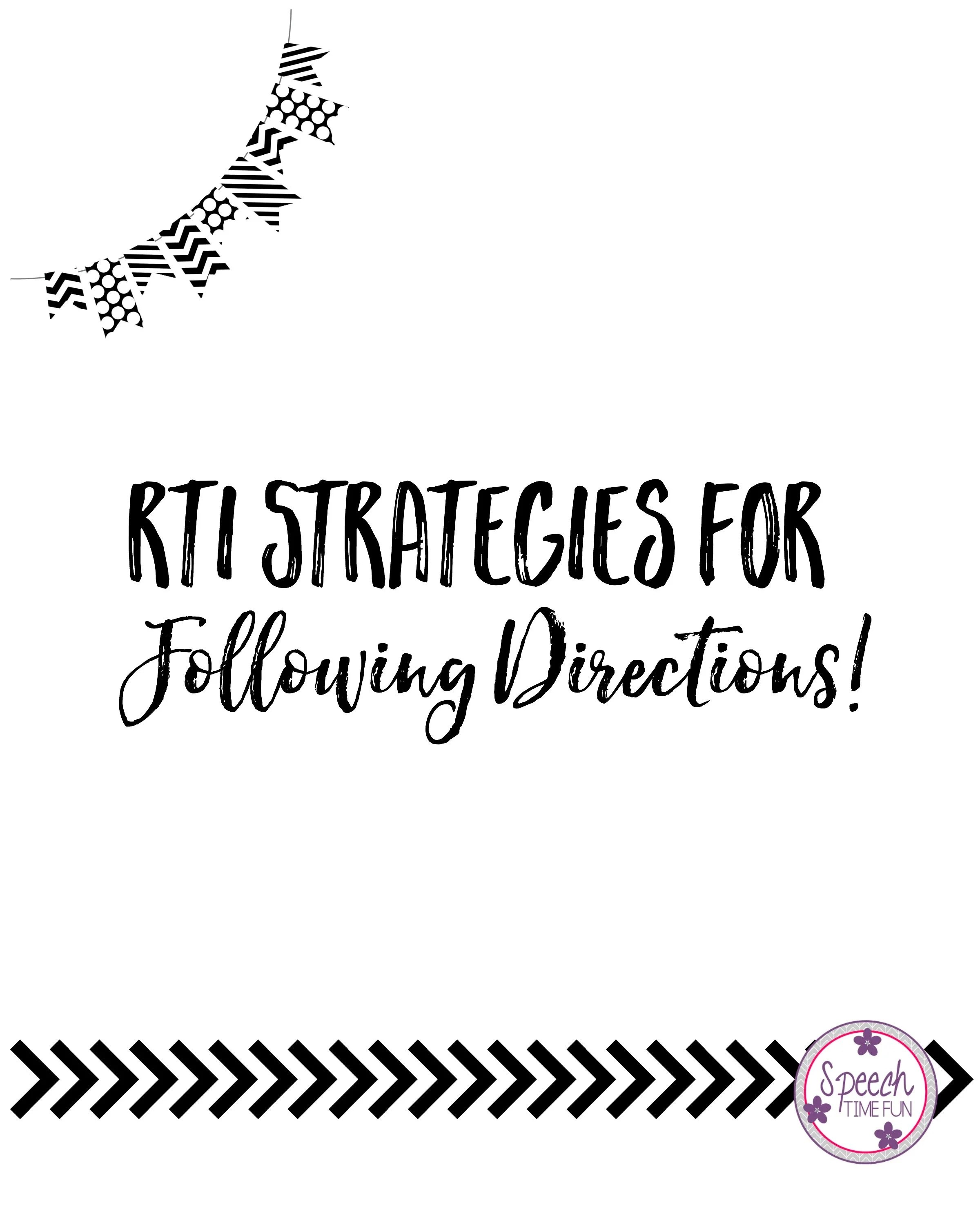 Tools For Your Rti Toolbox Following Directions
