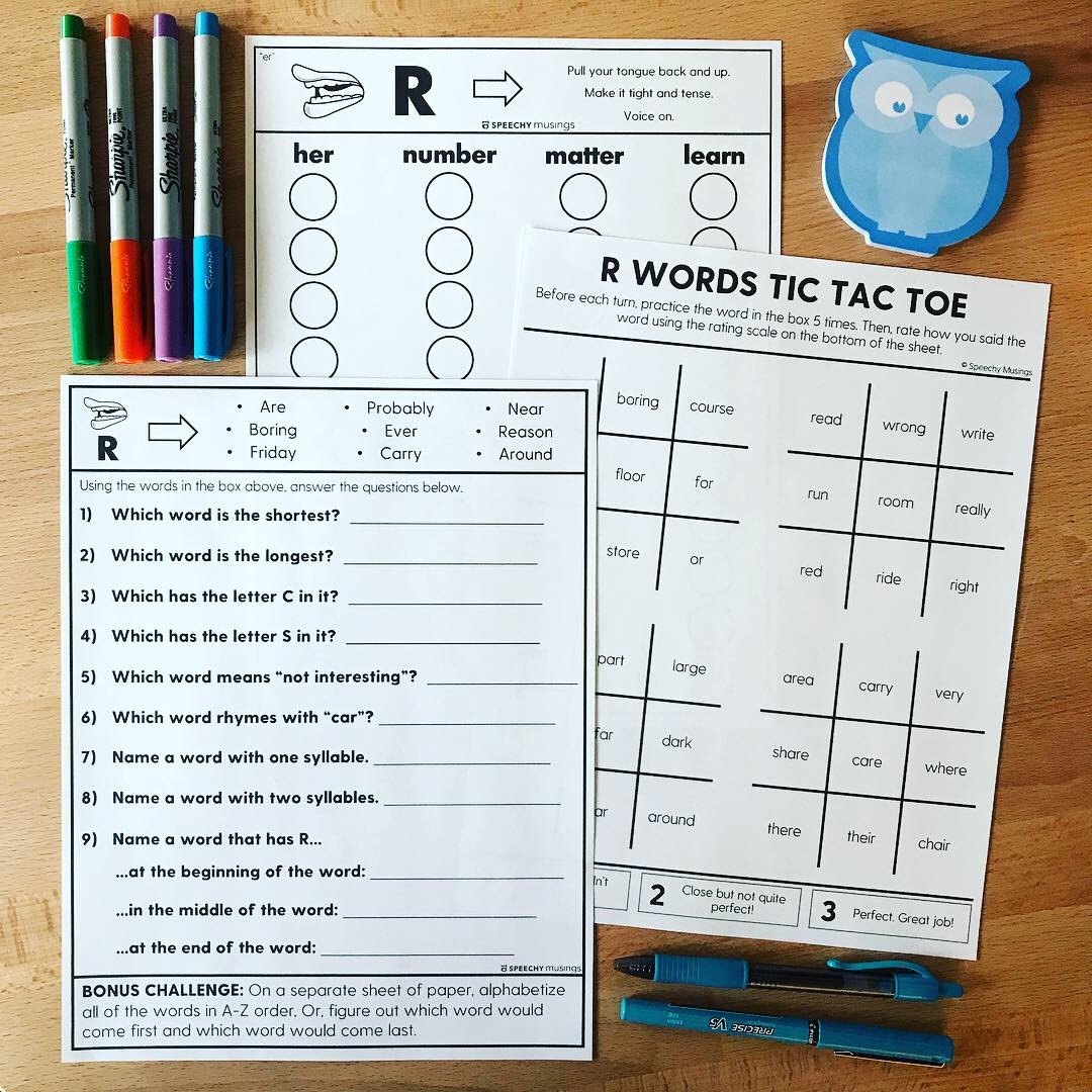 Using High Frequency Words In Articulation Therapy