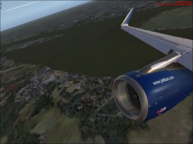 Just after takeoff from Finkenwerder Runway 23.