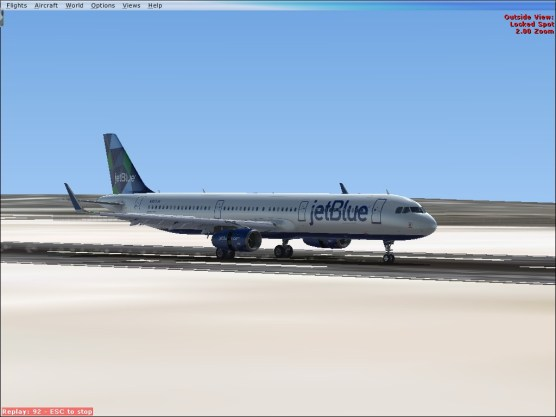 Slowing on Runway 29.