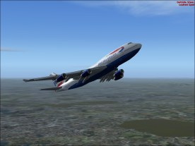 Climbing away from LHR.