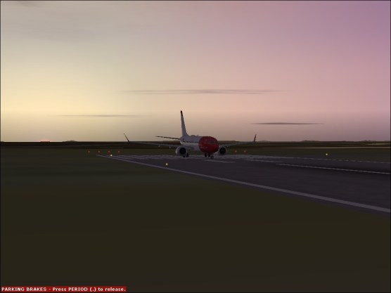Sitting on the Runway at PWM.