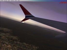 A look to the left after takeoff.