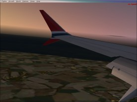 A look before landing.