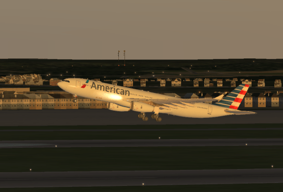 Taking off of Runway 1R at KBXM.