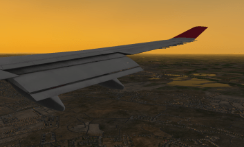 Approaching Runway 09R at LHR.
