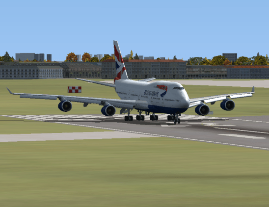 On Runway 27R.