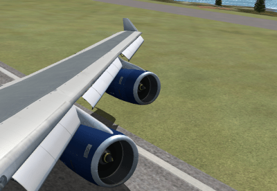 Floating right before touchdown.