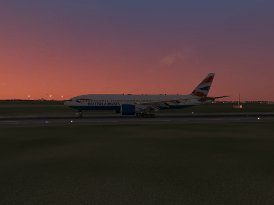 Rolling down the runway after landing at Gatwick.