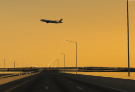 Always wondered what a heavy would look like taking off Runway 11 over 295.