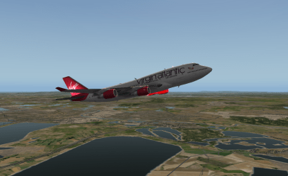 Climbing out of LHR.