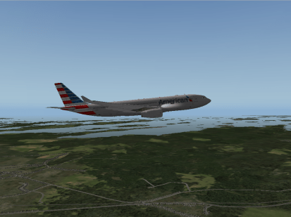 The A330-200 flying.