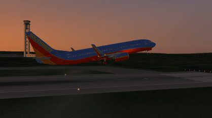 Taking off Runway 25.