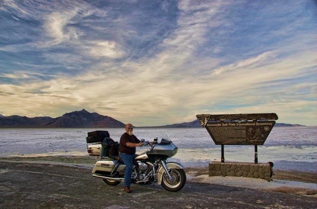 Self Portrait at the Bonneville Salt Flats in Utah
