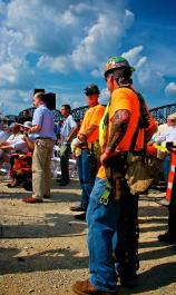 Ironworker Local 70 members at official Groundbreaking for Downtown Bridge Louisville KY.