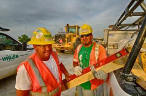 Brad Ray And Antonio Villaneeva On The Ohio River Bridges Project In Louisville Ky.