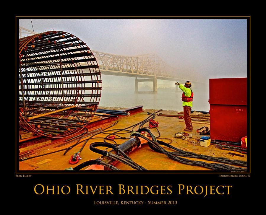 Ohio River Bridges Project Summer 2013 Commemorative Print