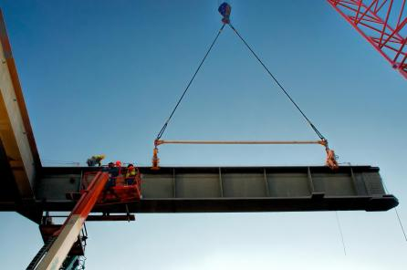 Picking a side girder for the downtown span #3