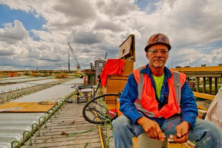 Scott Morris, Ironworker Local 263 on lunch break. #2