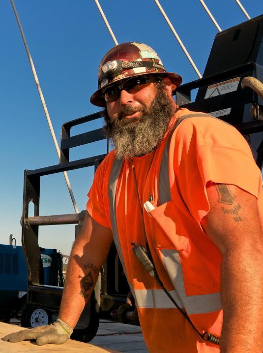 """Local 70 Ironworker Jason """"Bouncer"""" Wells,"""