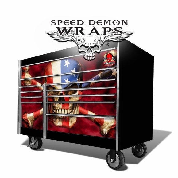 Skull Snap-On-Tool Box Skins