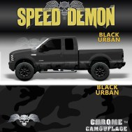 Black Urban Camo Rocker Panel
