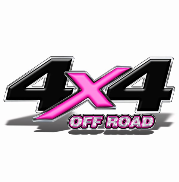 Pink and Black 4x4 Offroad Decal