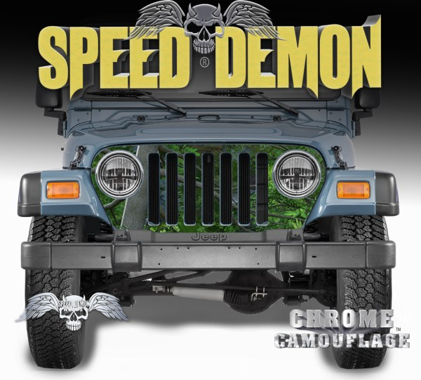 1997-2006 Jeep Grill Wraps True forest Camouflage Camo