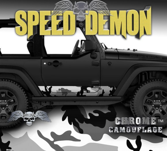 2007-2017 2 Door Jeep Wrangler Rocker Wrap Camo Urban Snow