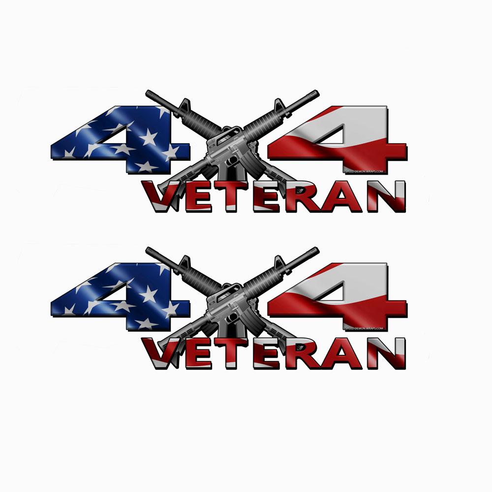 4x4 Decal Veteran American