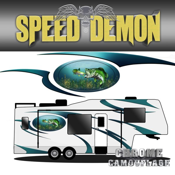 5th Wheel Trailer Large Mouth Bass Graphics