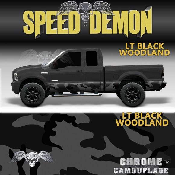 Black Camo Rocker Panel-Wrap Camouflage