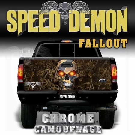 Fallout Camo Tailgate Wrap Predator Skull