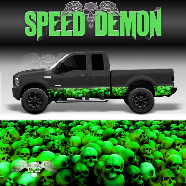 Skull Crusher Rocker Panel Wrap Green