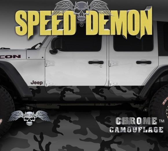Jeep Rocker Wrap camo Black Urban Camouflage
