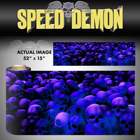 Skull Vinyl Wrap Sheet skull Crusher Blue