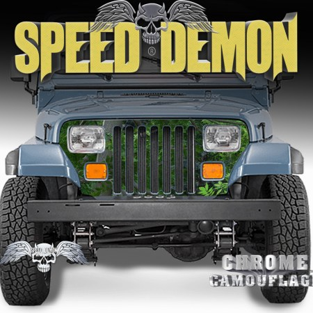 1987-1995 Jeep Grill Wraps Camo True Forest Camouflage Wrangler