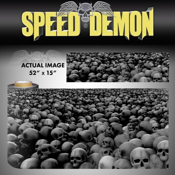 Skulls Vinyl Wrap Sheet Subdued