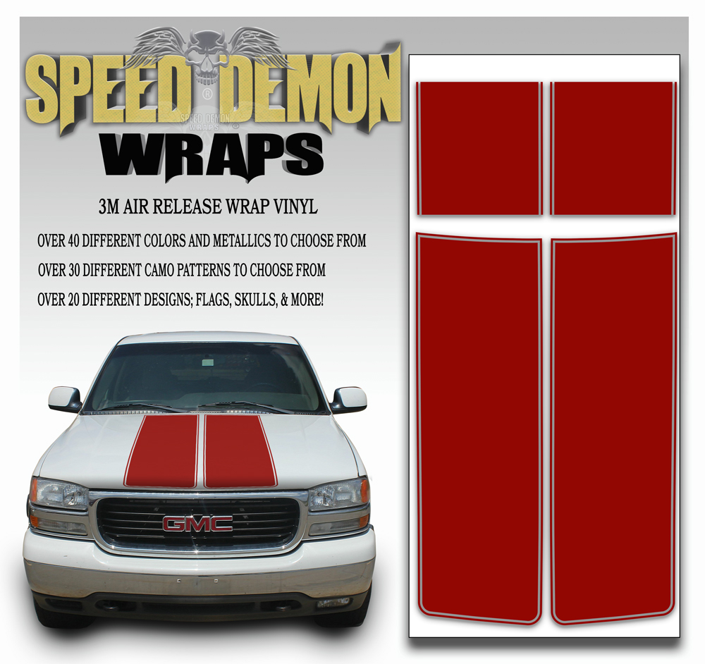 GMC Sierra Stripe Kit Burgundy 2000-2006